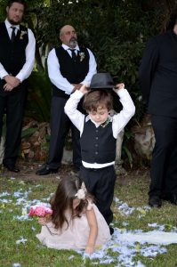 Wedding Ceremony Finn & Avalon are page boy and flower girl