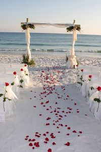 beach wedding at gold coast 2016 image of alter and isle created on the beach