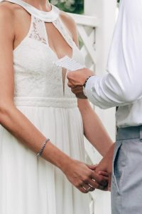hints and tips about the wedding ceremony image of groom saying vows at the alter