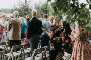 hints and tips about your guests image guests at the wedding ceremony